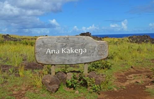 Señalización del Parque Nacional Rapa Nui