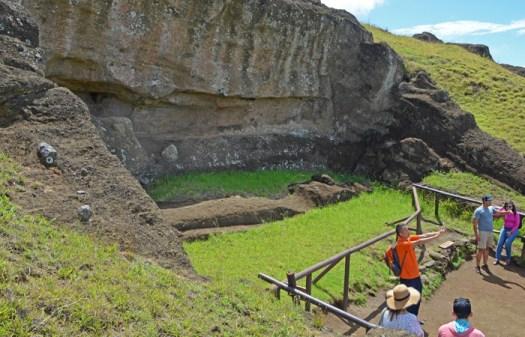 El Gigante es el moai más grande jamás labrado