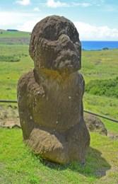 Tukuturi podría tratarse del último moai labrado