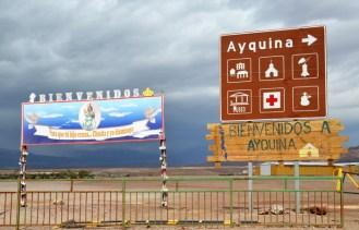 Cartel en Ayquina