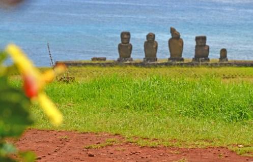Los 5 moai de Ahu Vai Ure