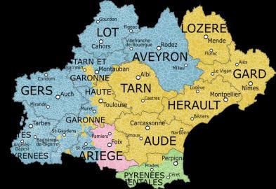 Dialectos en la región de Occitania