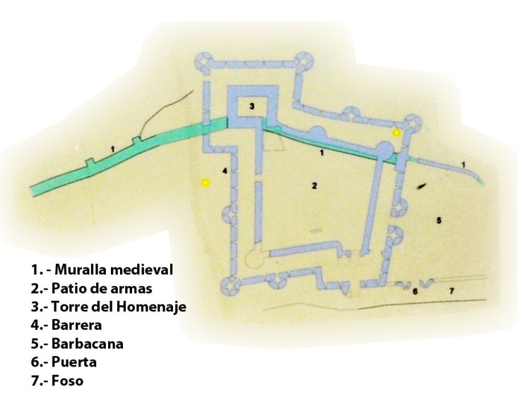 Plano del Castillo de Caracena