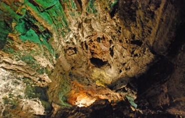 Interior del tubo volcánico