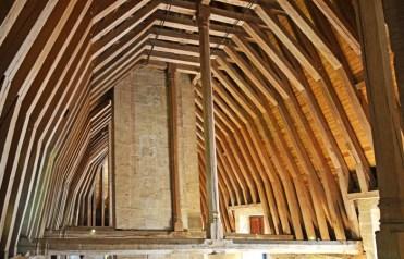Estructura de las cubiertas del castillo