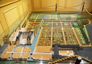 Villandry - Maqueta del Castillo y Jardines