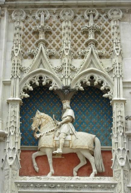 Castillo de Blois - Estatua de Luis XII