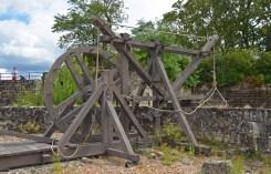 Chinon - Catapulta en la fortaleza