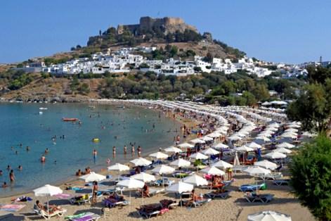 Playa de Lindos y Acrópolis