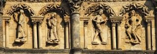 Catedral de Angulema - Bajorrelieves de la fachada occ.
