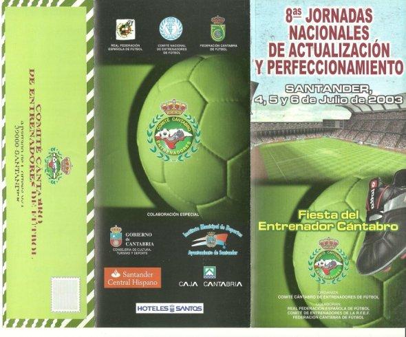 Carlos Lorenzana en las 8 Jornadas Entrenadores Futbol Santander