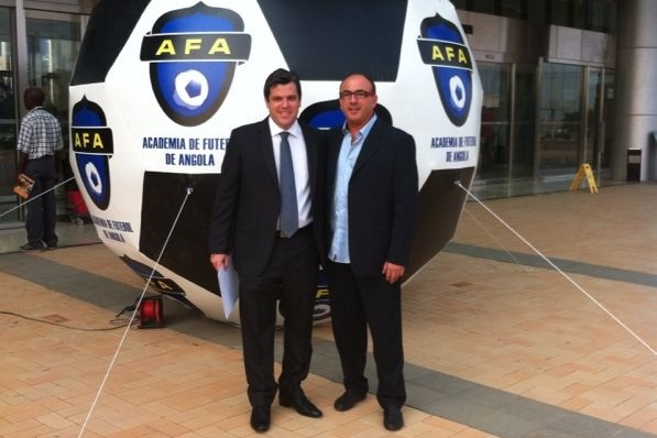 Fórum AFA 2013. José Luis Garrido e Toni Cortes. Academia de Futebol de Angola