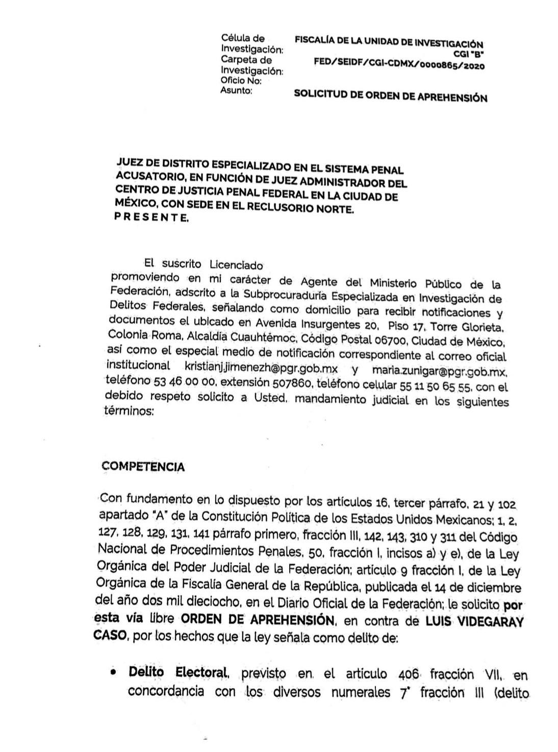 FGR cabildeó la orden de aprehensión contra Videgaray