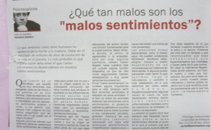 Artículos de psicología para el periódico Órbita