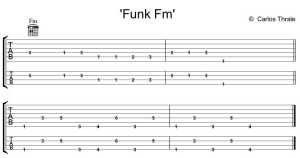'funk Fm'  guitar and bass lessons