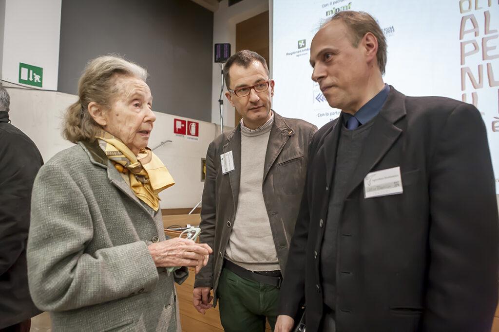 Giulia Maria Crespi all'Università Bocconi di Milano durante il Convegno internazionale di biodinamica del 2015