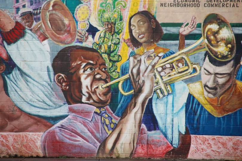 Louis Armstrong, New Orleans graffiti