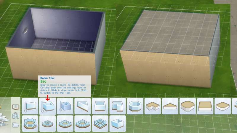 Sims 4 Building How To S Features Enclosed Room Auto Adds Floors And