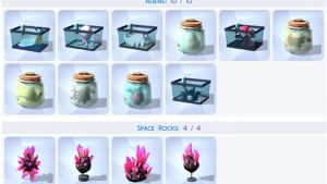 The Sims 4 Aliens Space Rocks Collections