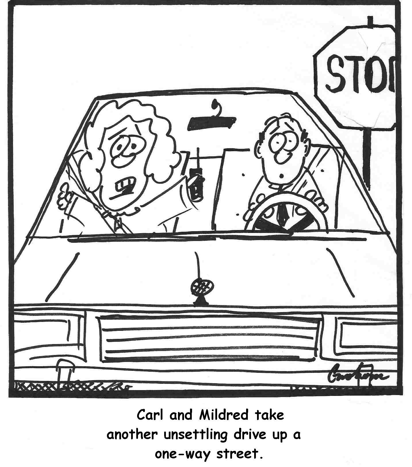 Cartoon Car Driving Safety