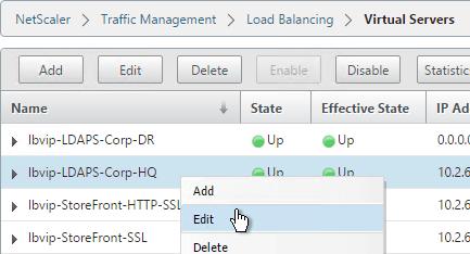 Domain Controller (LDAPS) Load Balancing – NetScaler 10 5