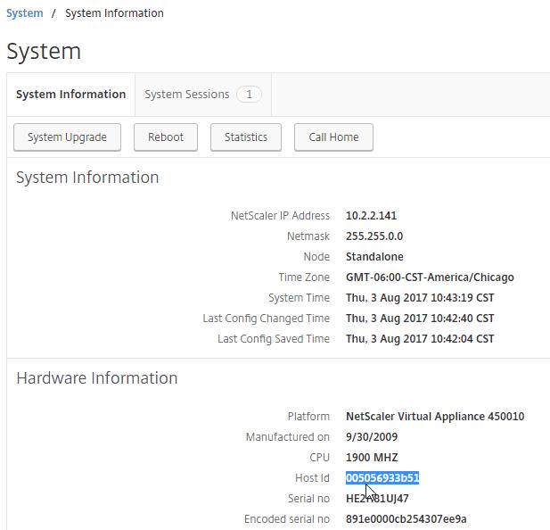 NetScaler 12 System Configuration