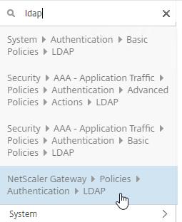 NetScaler Gateway 12 – LDAP Authentication