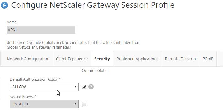 NetScaler Gateway 12 – RDP Proxy