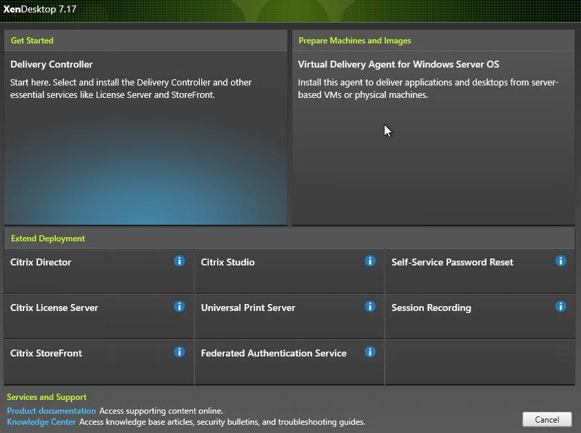 Click the Virtual Desktop Agent box to
