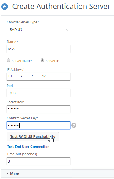 RADIUS Authentication – NetScaler Gateway 12 / Citrix