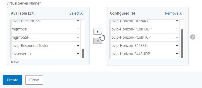 VMware Horizon Load Balancing – NetScaler 12 / Citrix ADC