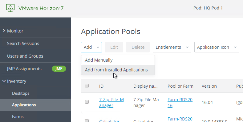 VMware Horizon 7 – RDS Farms/Pools – Carl Stalhood