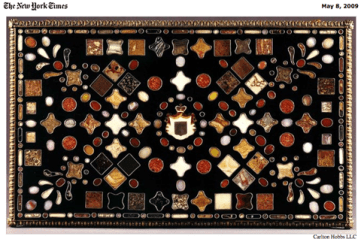 NYTimes 5.8.09 praises Carlton Hobbs exhibition of rare table tops