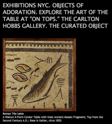 The Curated Object 5.09 praises items from Carlton Hobbs 'on Tops' exhibition
