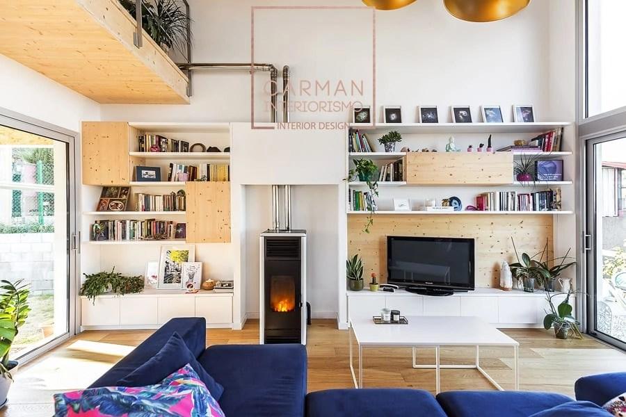 salon casa de madera
