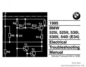 BMW 530i 1995 E34 Electrical Troubleshooting Manual