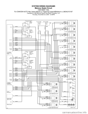 BMW 740il 1995 E38 System Wiring Diagrams
