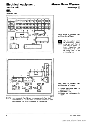 FIAT MAREA 2001 1G Workshop Manual
