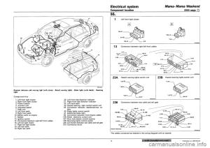 battery FIAT MAREA 2001 1G Workshop Manual