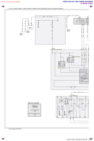 headlamp FORD KUGA 2011 1G Wiring Diagram Workshop Manual