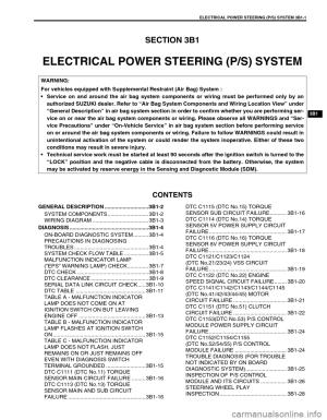 SUZUKI SWIFT 2000 1G RG413 Service Workshop Manual