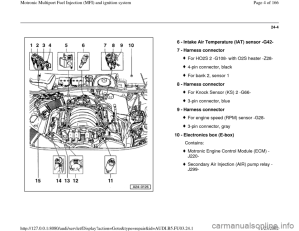 AUDI A4 1995 B5  1G AHA Engine Multiport Fuel Injection