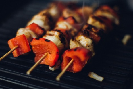 prep skewers for bbq kebabs
