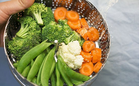 healthy choice - steamed vegetables