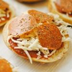 healthy snack idea - pizza bagel