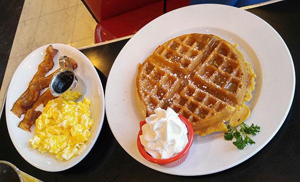 Ruby's Diner Pumpkin Waffle