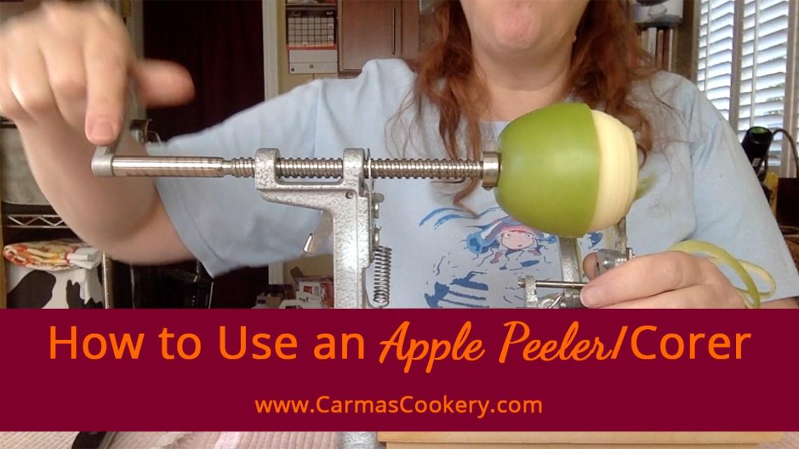 How to Use an Apple Peeler Corer