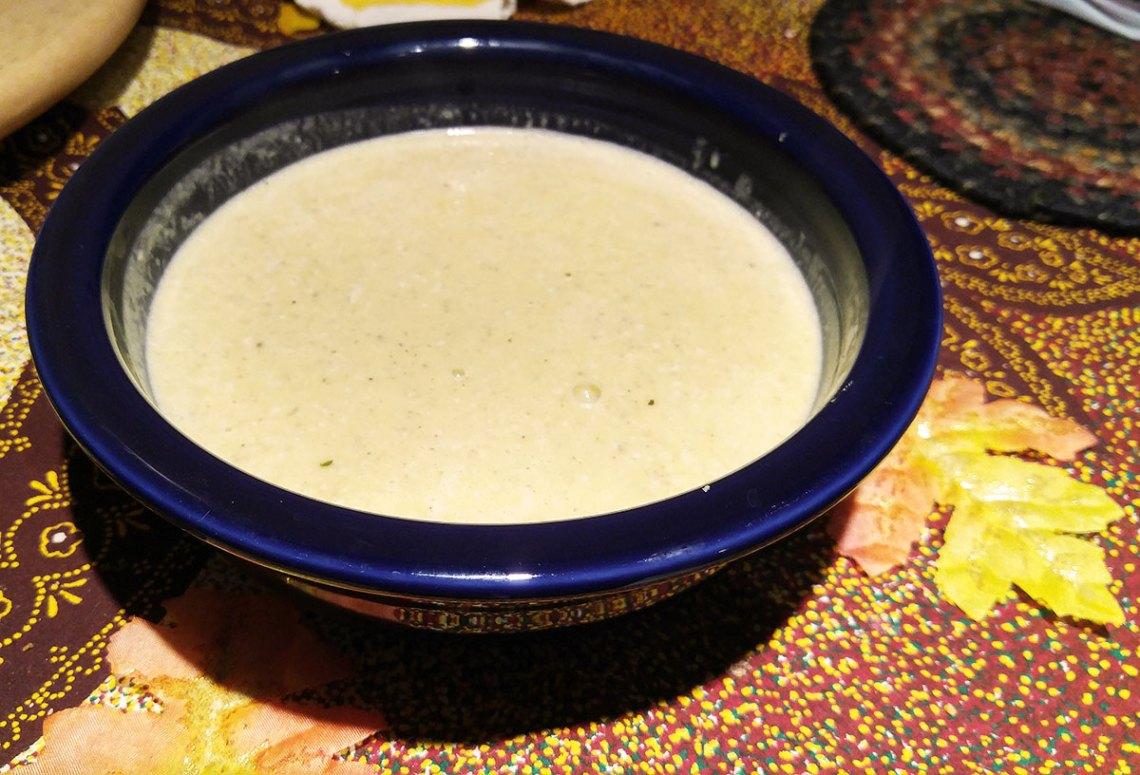 serve squash soup