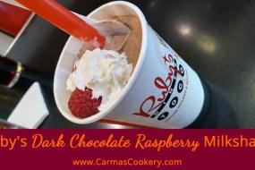 Ruby's Dark Chocolate Raspberry Milkshake