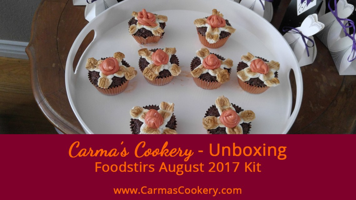 Foodstirs August 2017 Kit - Campfire S'mores Brownie Cupcakes